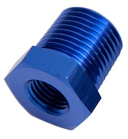 "<strong>NPT Pipe Reducer 1/2"" to 3/8"" </strong><br />Blue Finish"