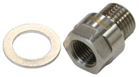 <strong>Metric Port Reducer M12 x 1.5 to 1/8&quot; </strong><br /> Stainless Steel