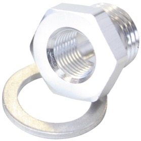 "<strong>Metric Port Reducer M16 x 1.5 to 1/8"" </strong><br /> Silver"