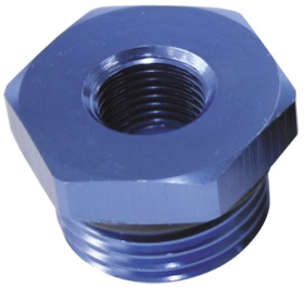 "<strong>ORB Port Reducer -10ORB to 1/8""</strong> <br />Blue Finish."