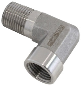 "<strong>90° Female 1/8"" NPT to Male 1/8"" NPT Elbow </strong> <br /> Stainless Steel"
