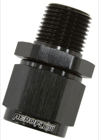 "<strong>Male NPT to Female AN Straight Fitting 3/8"" to -6AN</strong><br /> Black Finish"