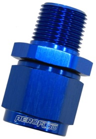 "<strong>Male NPT to Female AN Straight Fitting 3/8"" to -10AN</strong><br /> Blue Finish"