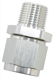 "<strong>Male NPT to Female AN Straight Fitting 3/8"" to -10AN</strong><br /> Silver Finish"