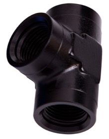 "<strong>NPT Female Pipe Tee 1/4""</strong><br /> Black Finish"
