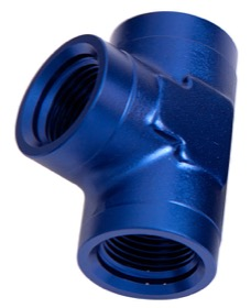 "<strong>NPT Female Pipe Tee 3/8""</strong><br /> Blue Finish"
