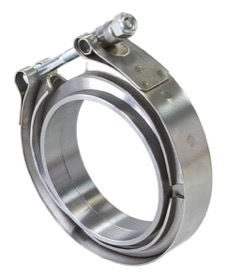 <strong>Aluminium V-Band Clamp</strong><br />1-1/2&quot; I.D, X2 Weld-On Rings & X1 S/S Clamp