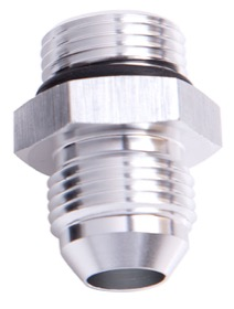 <strong>Straight AN Male Flare Adapter to ORB -10AN to -10 ORB</strong><br />Silver Finish
