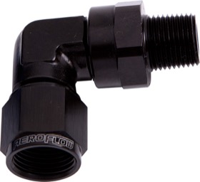 "<strong>90° Male NPT to Female AN Adapter 1/2"" to -10AN </strong><br /> Black Finish"