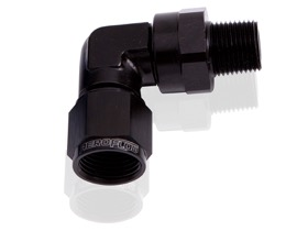 "<strong>90° Male NPT to Female AN Adapter 3/4"" to -16AN </strong><br /> Black Finish"