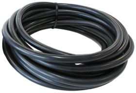 "<strong>Silicone Vacuum Hose<strong><br />1/8"" (3mm) I.D, Wall 4mm, 5 Foot (1.5m)  Roll, Black"