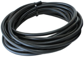 <strong>Silicone Vacuum Hose<strong><br />3/8&quot; (10mm) I.D, Wall 4mm, 25 Foot (7.6m)  Roll, Black