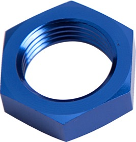 <strong>Bulkhead Nut -6AN </strong><br />Blue Finish