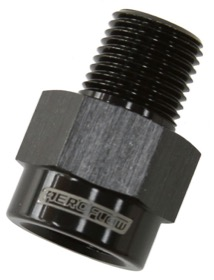 <strong>BSP Male to NPT Female Adapter</strong><br /> 1/8&quot; to 1/8&quot;, Black Finish