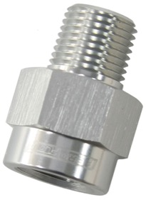 <strong>BSP Male to NPT Female Adapter</strong><br /> 1/8&quot; to 1/8&quot;, Silver Finish
