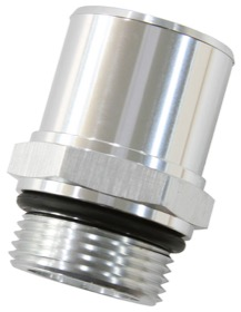 "<strong>ORB Barb Adapters </strong><br /> -16 ORB to 1-3/8"" (35mm) Barb, 55mm OAL, Silver Finish"