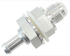 <strong>Fuel Cell Bulkhead Fitting</strong><br />-6AN to 3/8