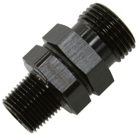 <strong>ORB to NPT Coupler </strong><br /> -10 ORB to 3/8&quot; NPT, Black Finish
