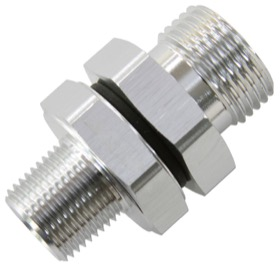 "<strong>ORB to NPT Coupler </strong><br /> -10 ORB to 3/8"" NPT, Silver Finish"