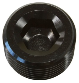 "<strong>NPT Plug 1/8"" </strong><br />Black Finish, 25 pack"