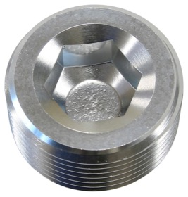 "<strong>NPT Plug 1/2"" </strong><br />Silver Finish, 25 pack"