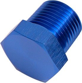 "<strong>NPT Hex Head Plug 1/2""</strong><br /> Blue Finish"