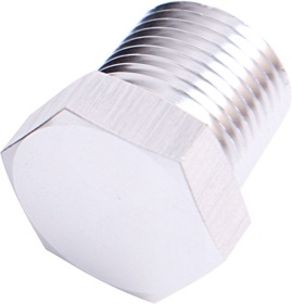 "<strong>NPT Hex Head Plug 1/2""</strong><br /> Silver Finish"