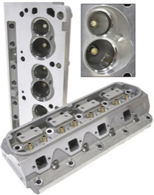 <strong>Aluminium Cylinder Heads Bare, 175cc Runner with 60cc Chamber</strong><br /> Suit Small Block Ford