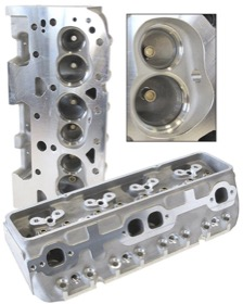 <strong>Bare Aluminium Cylinder Heads (Pair), 200cc Runner with 64cc Chamber </strong><br /> Suit Small Block Chevy. Straight Plugs