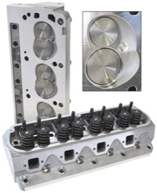 <strong>Complete Aluminium Cylinder Heads (Pair), 175cc Runner with 60cc Chamber </strong><br /> Suit Small Block Ford
