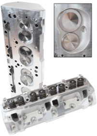 <strong>Complete Aluminium Cylinder Heads (Pair), 176cc Runner with 65cc Chamber </strong><br/>Suit Small Block Chrysler 318, 340, 360