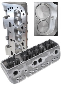 <strong>Complete Aluminium Cylinder Heads (Pair), 200cc Runner with 64cc Chamber </strong><br /> Suit SB Chevy. Straight Plugs