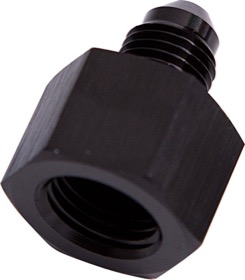 <strong>AN Flare Reducer Female/Male -4AN to -3AN </strong><br />Black Finish