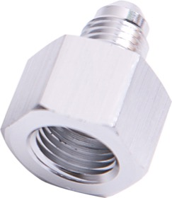 <strong>AN Flare Reducer Female/Male -8AN to -4AN </strong><br />Silver Finish