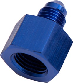 <strong>AN Flare Reducer Female/Male -8AN to -6AN </strong><br />Blue Finish