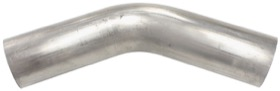 <strong>Stainless Steel 45&deg; Mandrel Bend</strong><br /> 2-1/4&quot; O.D, .065&quot; Wall, 6&quot; Leg