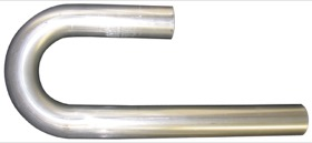 "<strong>Stainless Steel 180° Mandrel J Bend</strong><br /> 3-1/2"" O.D, .065"" Wall, 6""/12"" Leg"