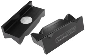 <strong>Billet Aluminium Magnetic Vice Jaws - Black </strong><br />suits -16 to -20AN fittings