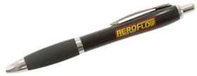 <strong>Black Pen</strong> <br />With Yellow Aeroflow Logo