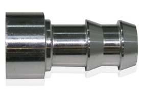 "<strong>Weld-On Push Lock Barb Fitting </strong><br /> 3/8"" Aluminium"