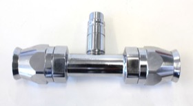 <strong>A/C Straight Inline -10AN Fitting with Charge Port</strong><br />