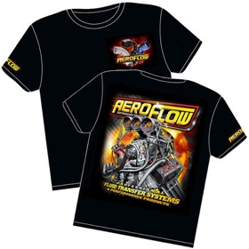 <strong>Aeroflow 'Nitro Hemi' Black T-Shirt</strong> <br />Youth Small