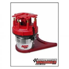 MSD-8510  MSD Front Drive Distributor, Chev SB, must be used with a Jesel or Comp Cams Camshaft Belt Drive Kit and an MSD Flying Magnet Crank Trigger.