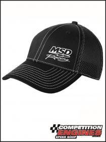 MSD-9522  MSD Black Flexfit Mesh White Stitch Baseball Cap,  (Small/Medium)
