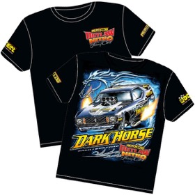 <strong>'Dark Horse' Mustang Outlaw Nitro Funny Car T-Shirt</strong><br /> XXX-Large