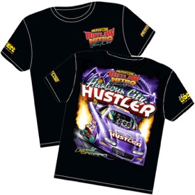 <strong>'Harbour City Hustler' 2002 Chevrolet Camaro Outlaw Nitro Funny Car T-Shirt</strong><br /> Youth-Medium