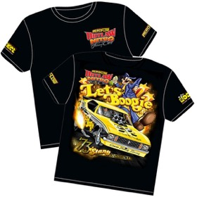<strong>'Let's Boogie' Mustang Outlaw Nitro Funny Car T-Shirt</strong><br /> XXX-Large