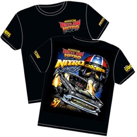 <strong>'Nitro Express' 57 Chev Outlaw Nitro Funny Car T-Shirt</strong><br /> Large