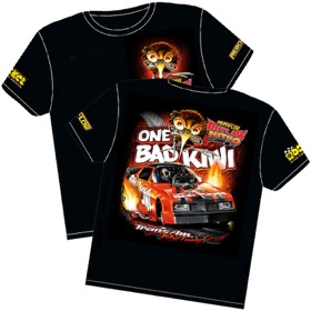<strong>'One Bad Kiwi' Pontiac Trans-Am Outlaw Nitro Funny Car T-Shirt</strong> <br />Small