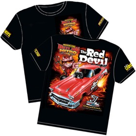 <strong>'The Red Devil' 57 Chev Outlaw Nitro Funny Car T-Shirt</strong><br />Medium
